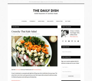 Daily Dish Pro WordPress Theme