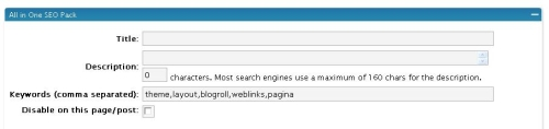 The All-in-One-SEO-pack plugin in use
