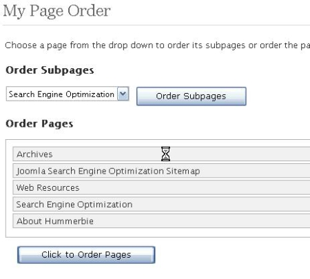 WordPress My Page Order Plugin